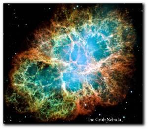 artful universe crab nebula